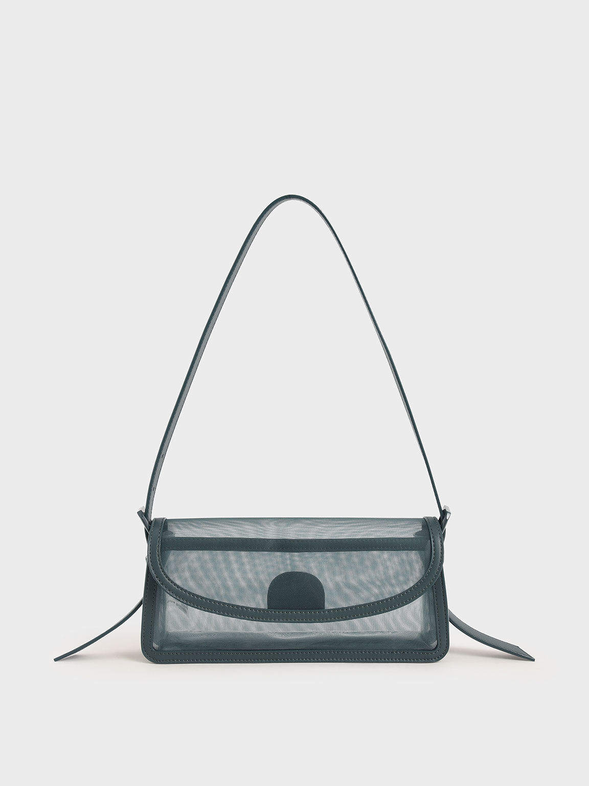 Mesh Shoulder Bag, Teal, hi-res