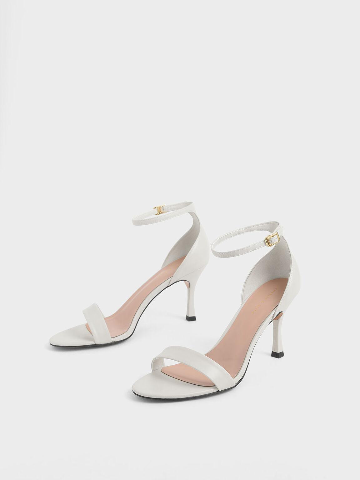 一字繞踝跟鞋, 石灰白, hi-res