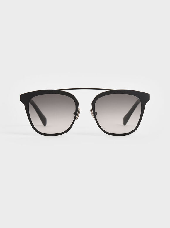 Metal Frame Sunglasses, Black, hi-res