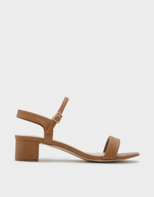 Camel Basic Open Toe Sandals | CHARLES