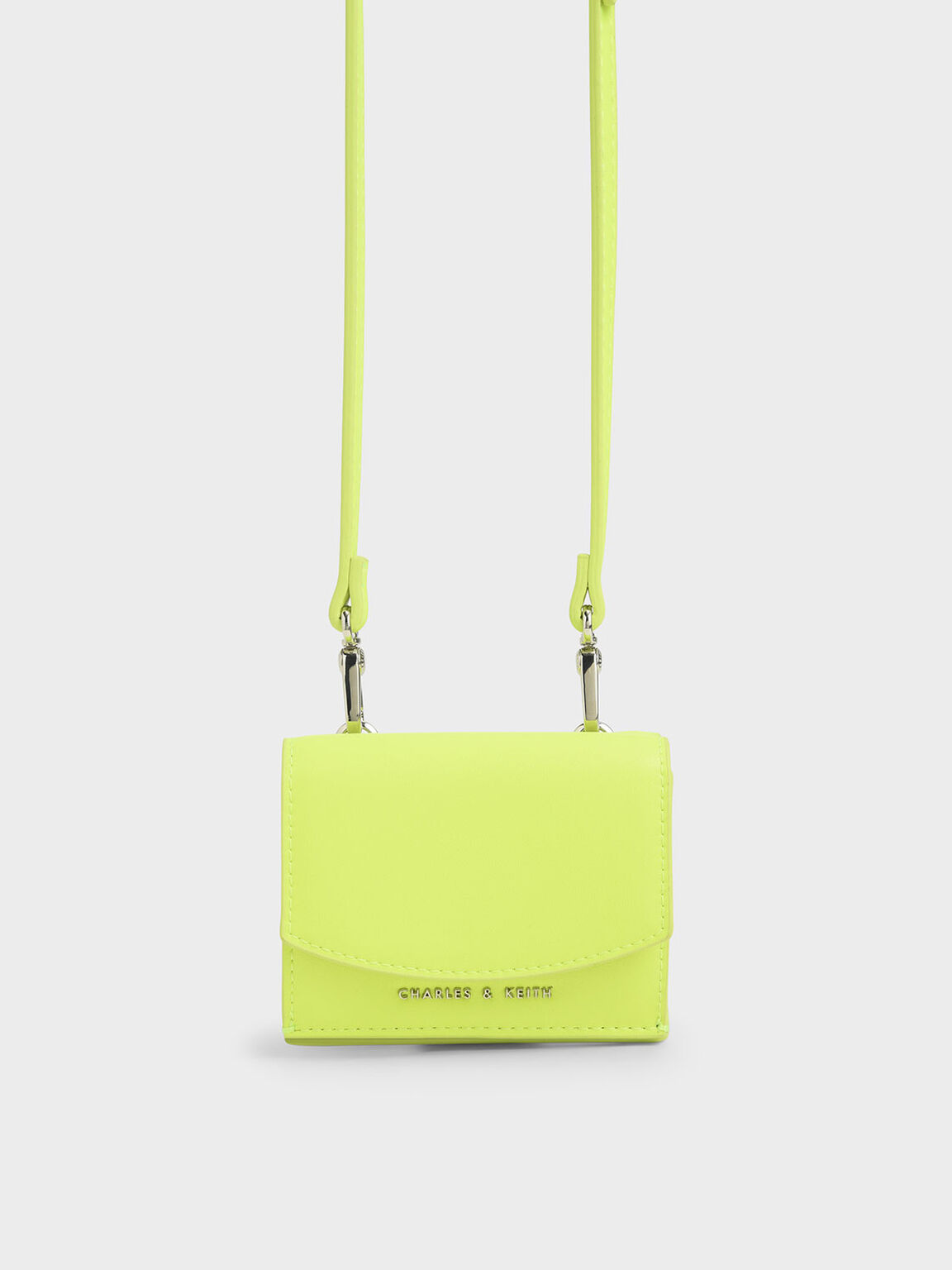 Mini Short Wallet, Neon Yellow, hi-res
