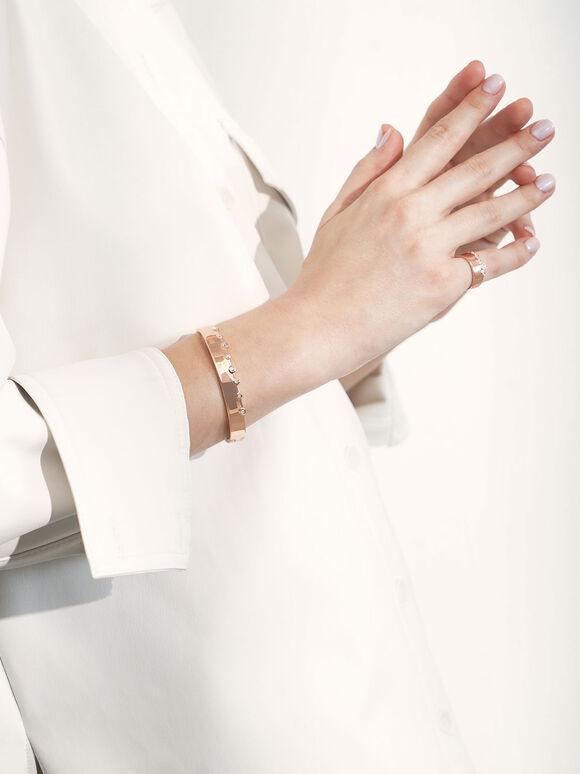 施華洛世奇®水晶鑲嵌寬戒, 玫瑰金, hi-res
