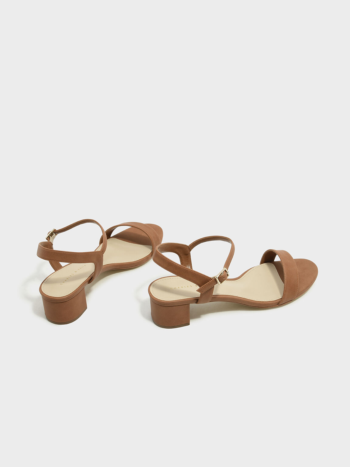 Basic Open-Toe Sandals, Camel, hi-res