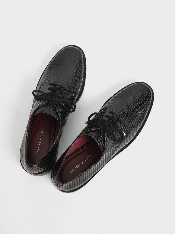 Patent Derby Shoes, Black, hi-res