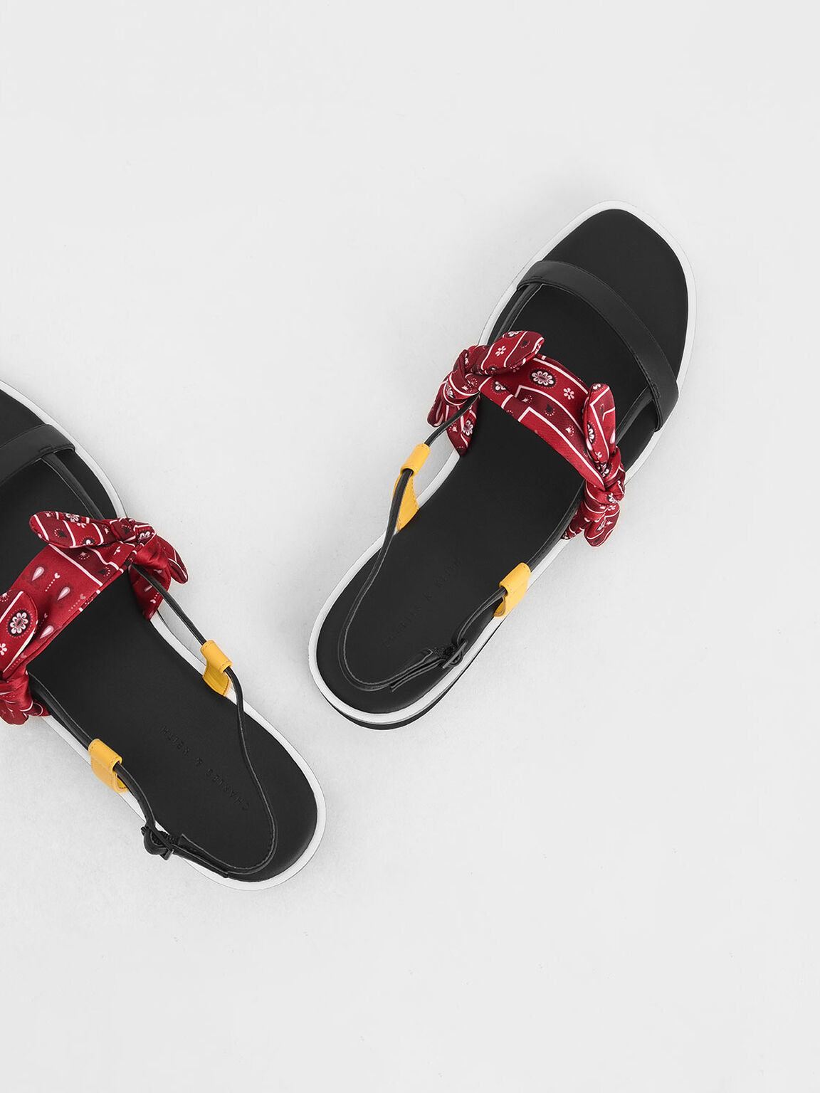 Purpose Collection - Bandana Print Knot Flatforms, Red, hi-res