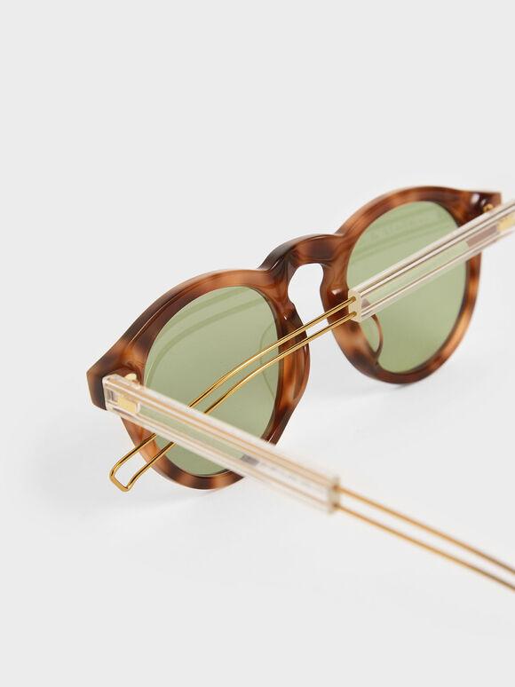 圓型粗框墨鏡, 玳瑁棕, hi-res