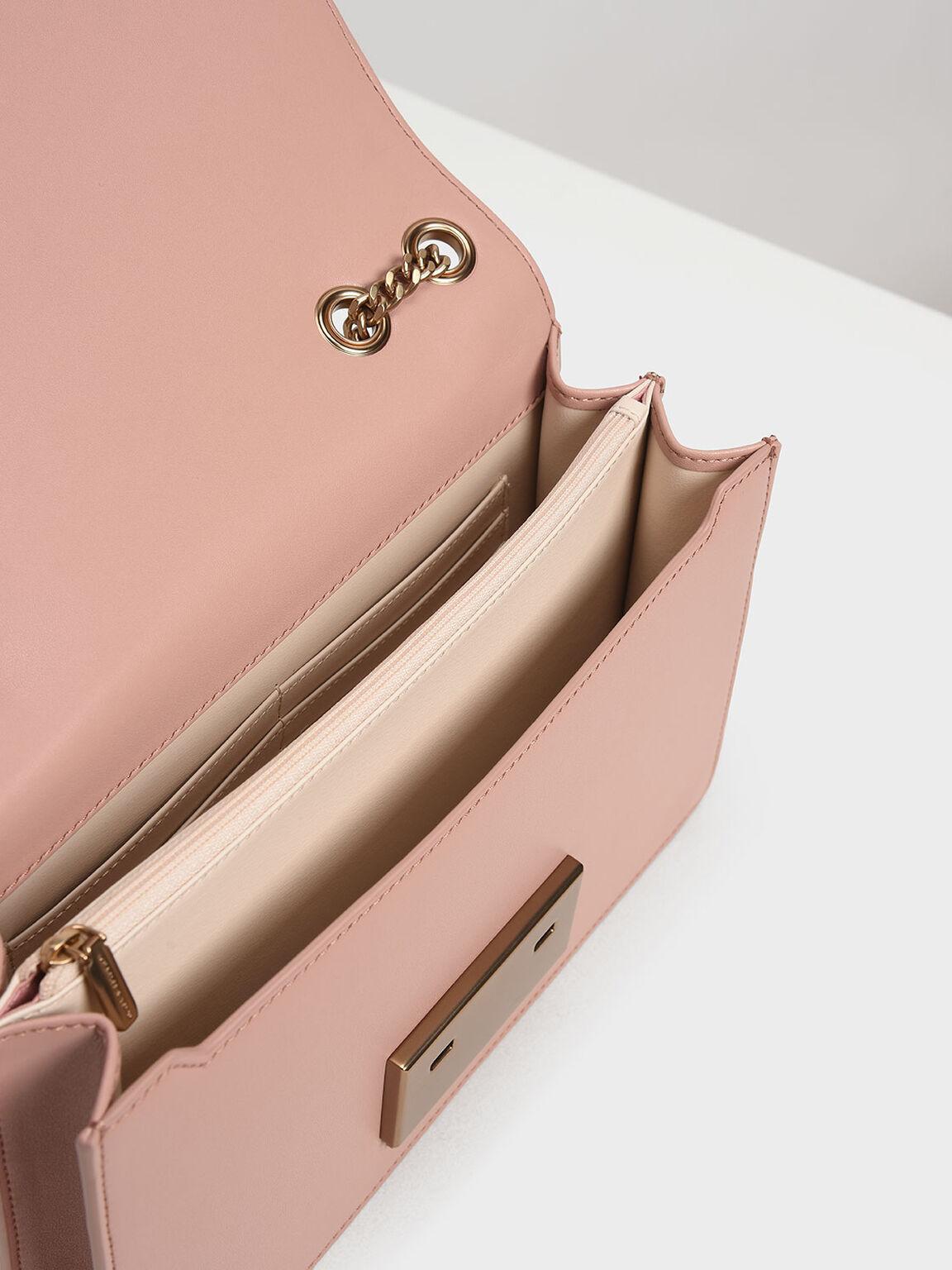 Woven Shoulder Bag, Blush, hi-res
