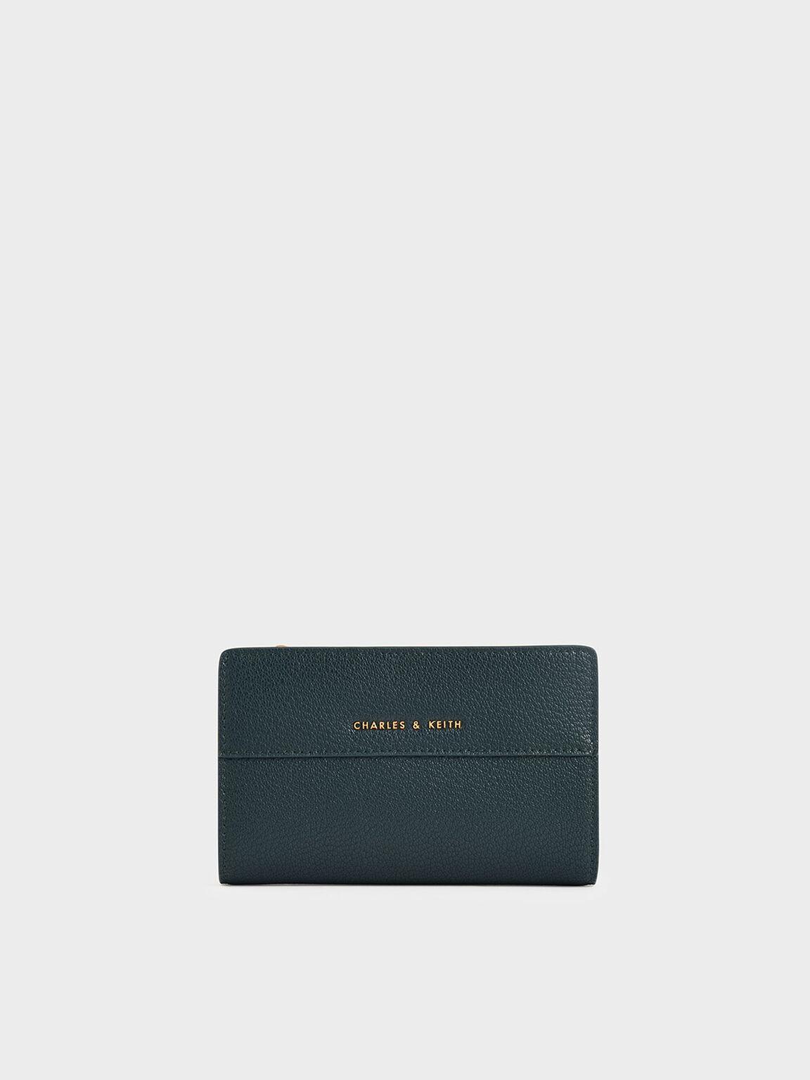 Snap-Button Mini Wallet, Teal, hi-res