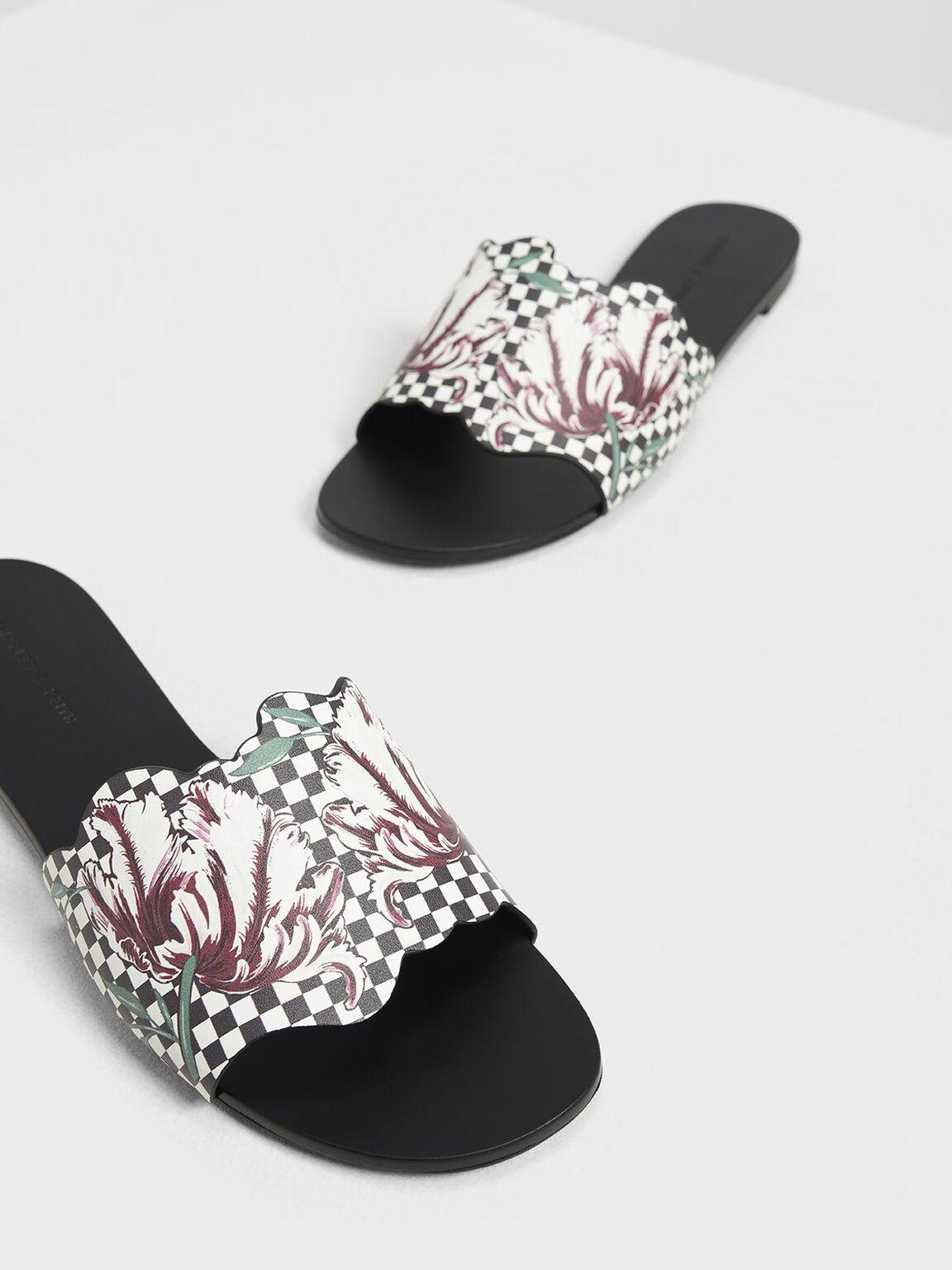 Floral Sliders, Black, hi-res
