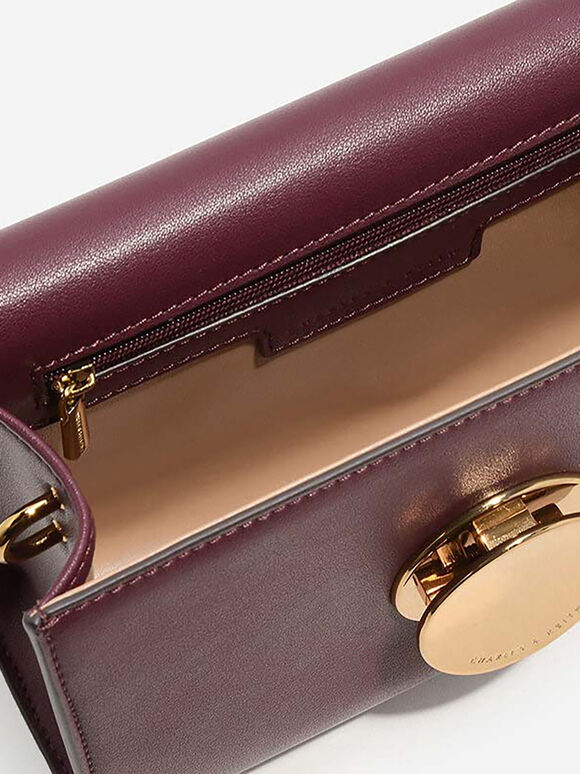 Grommet Sling Bag, Burgundy, hi-res
