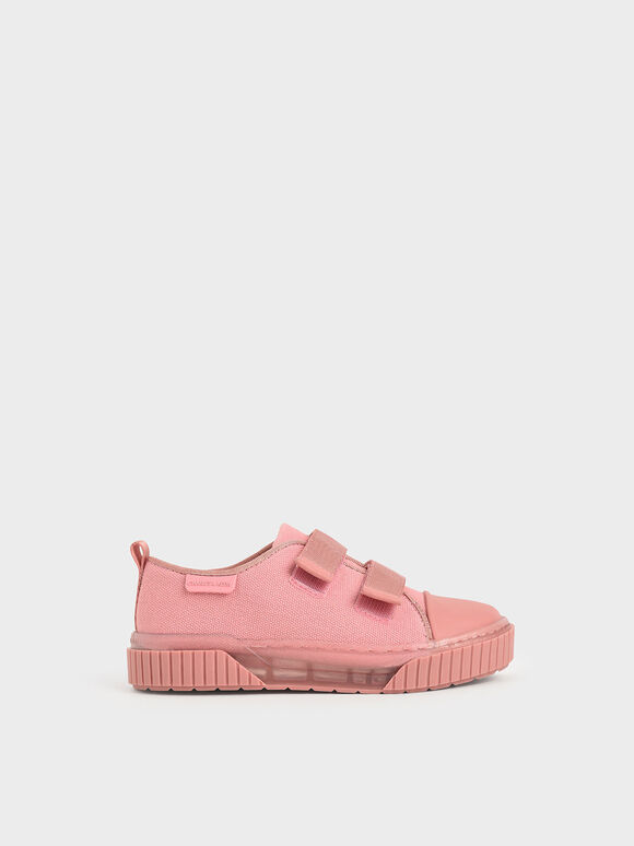 The Purpose Collection - Girls' Clear Sole Low-Top Sneakers, Pink, hi-res