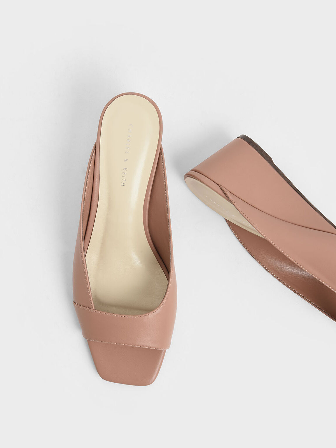 Asymmetrical Open Toe Wedges, Pink, hi-res