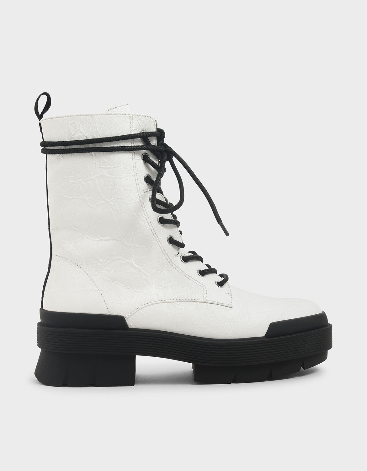 Lace Up Combat Boots | CHARLES \u0026 KEITH VN