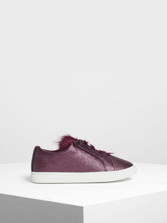 兒童金屬感球鞋, 紫色, hi-res