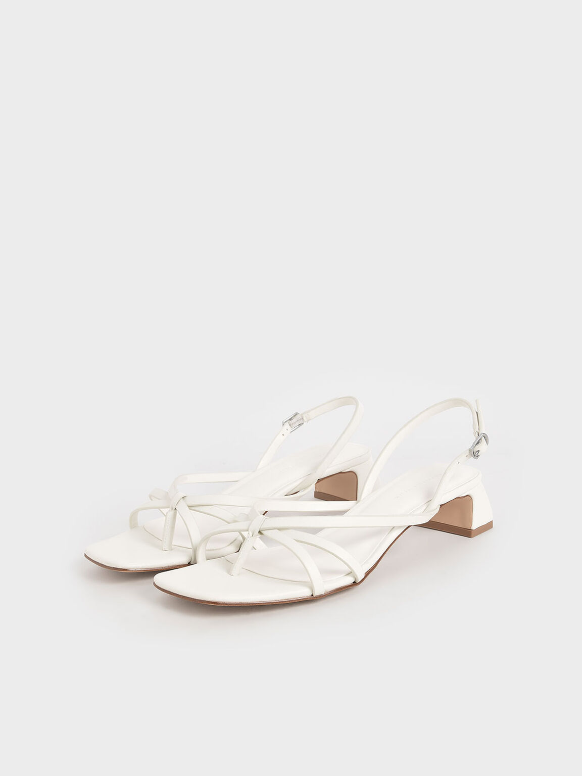 Strappy Sandals, White, hi-res