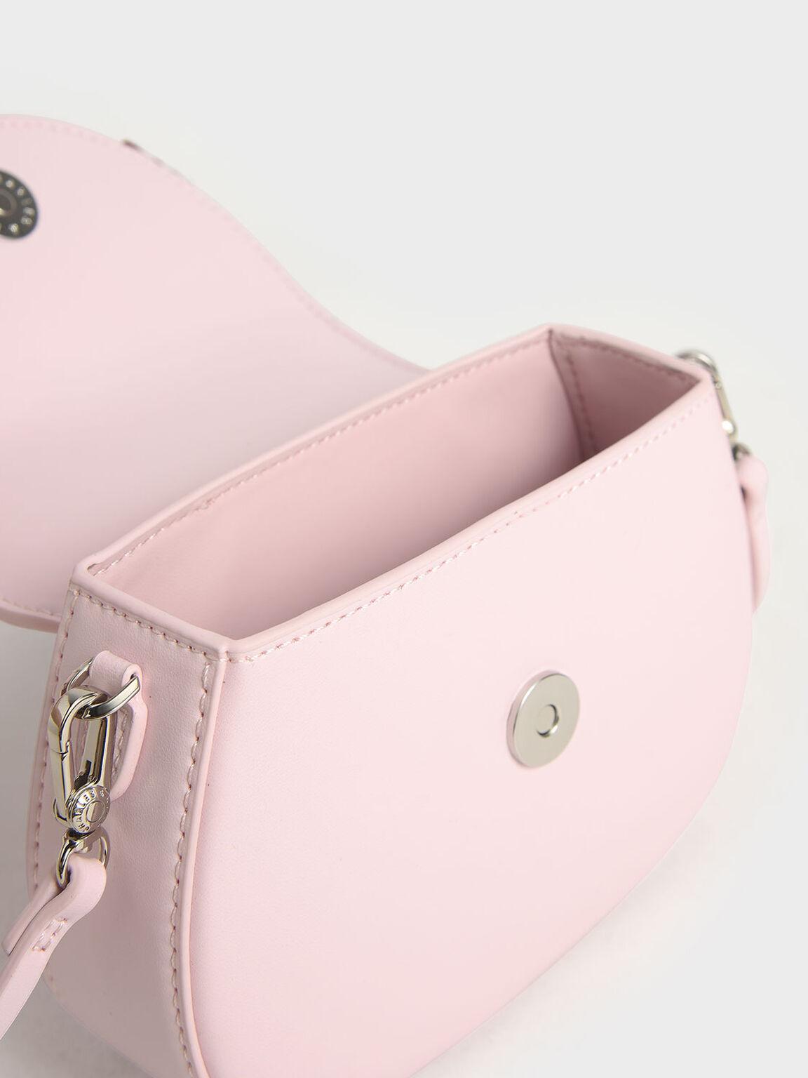 Summer 2020 Responsible Collection: Girls' Bandana Print Bow Crossbody Bag, Pink, hi-res
