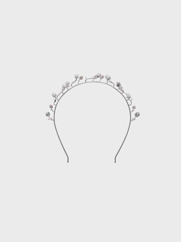 莓果寶石髮圈, 白色, hi-res