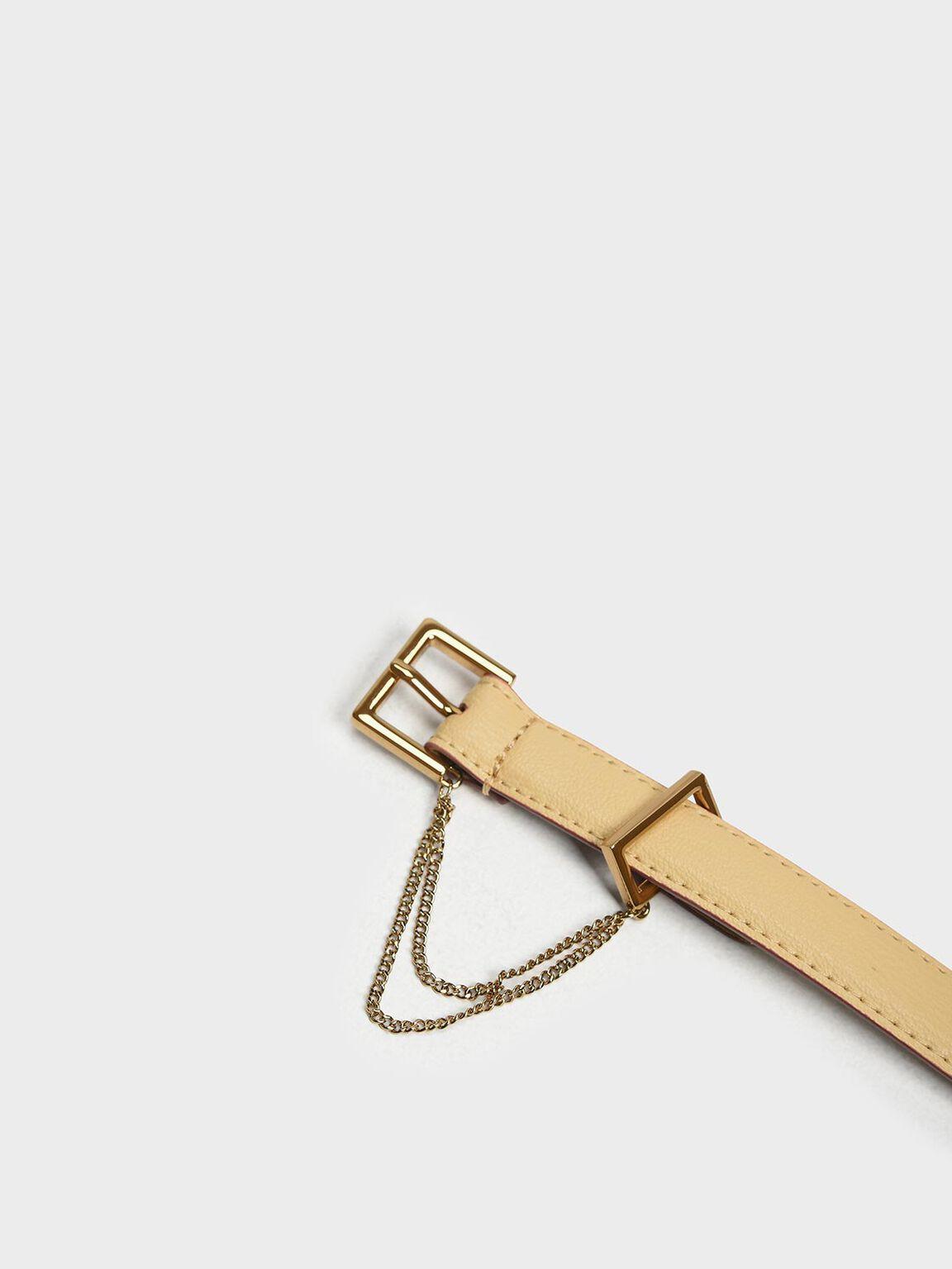Chain Link Belt, Yellow, hi-res