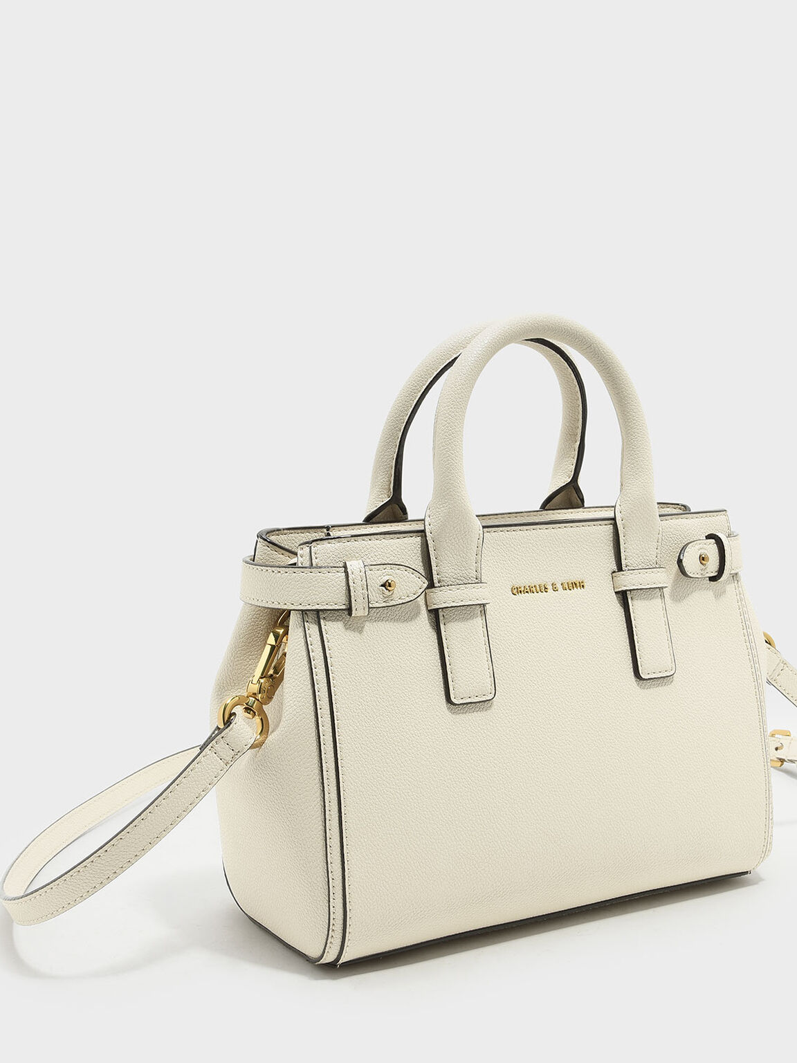 Basic Top Handle Bag, Ivory, hi-res