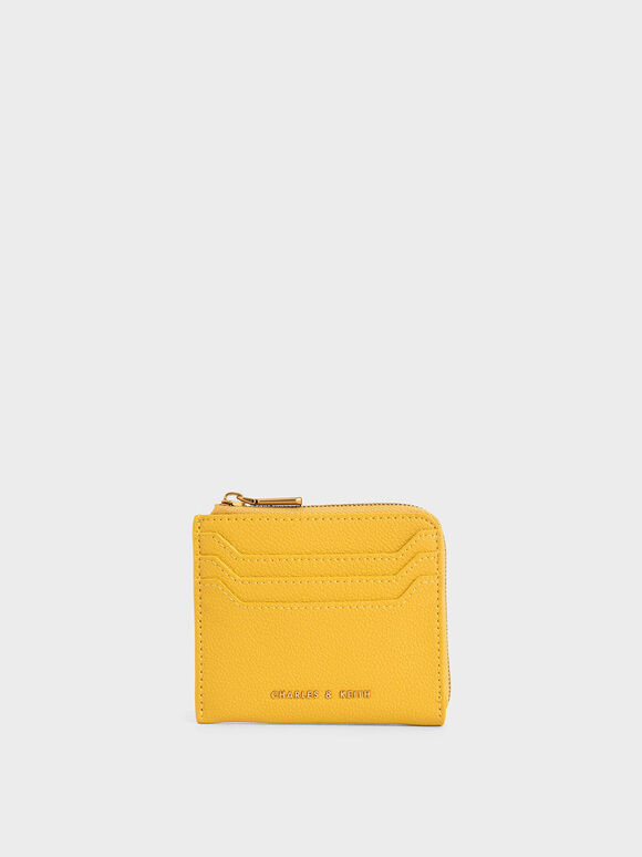 Multi-Slot Mini Pouch, Yellow, hi-res