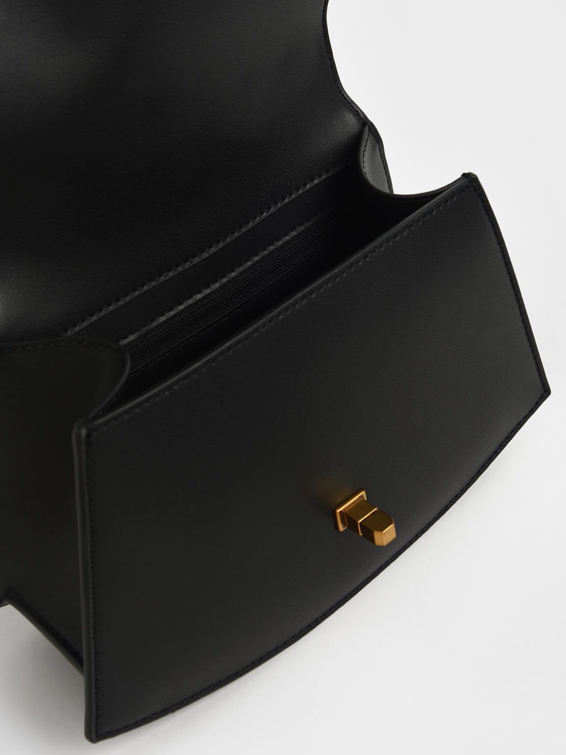 Coiled Top Handle Bag, Black, hi-res