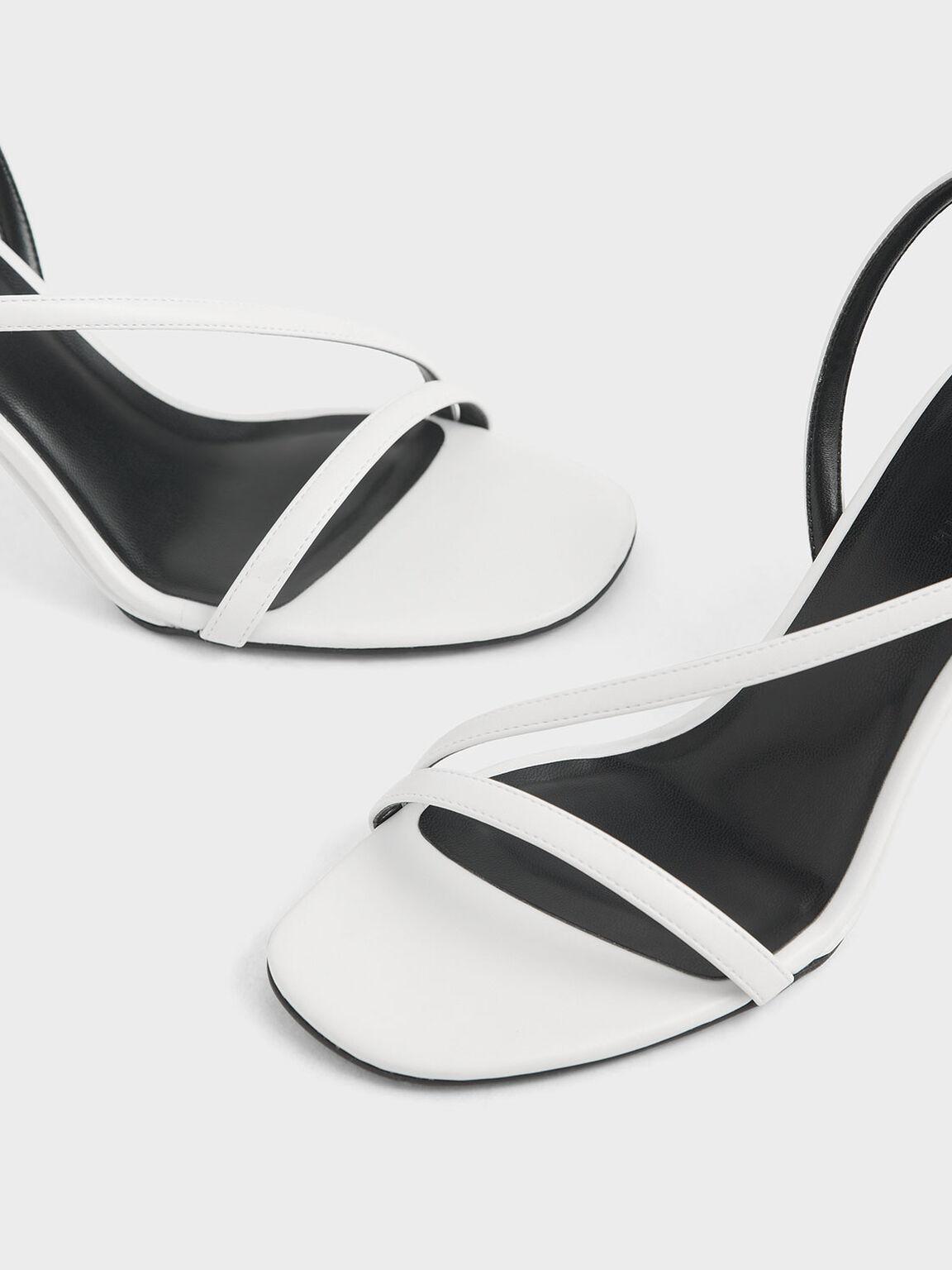 圓柱跟涼鞋, 白色, hi-res