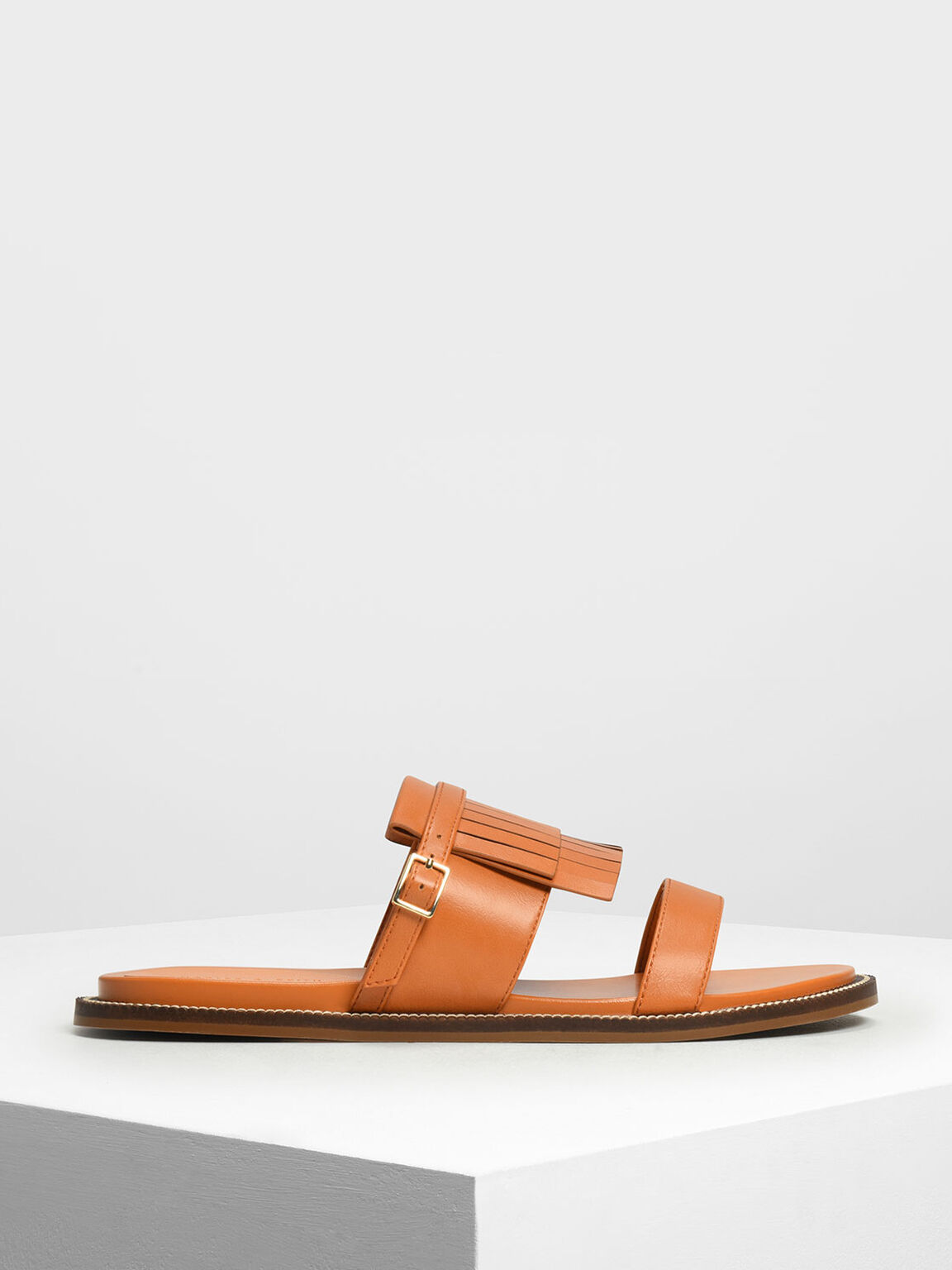 Fringe Trim Sliders, Orange, hi-res