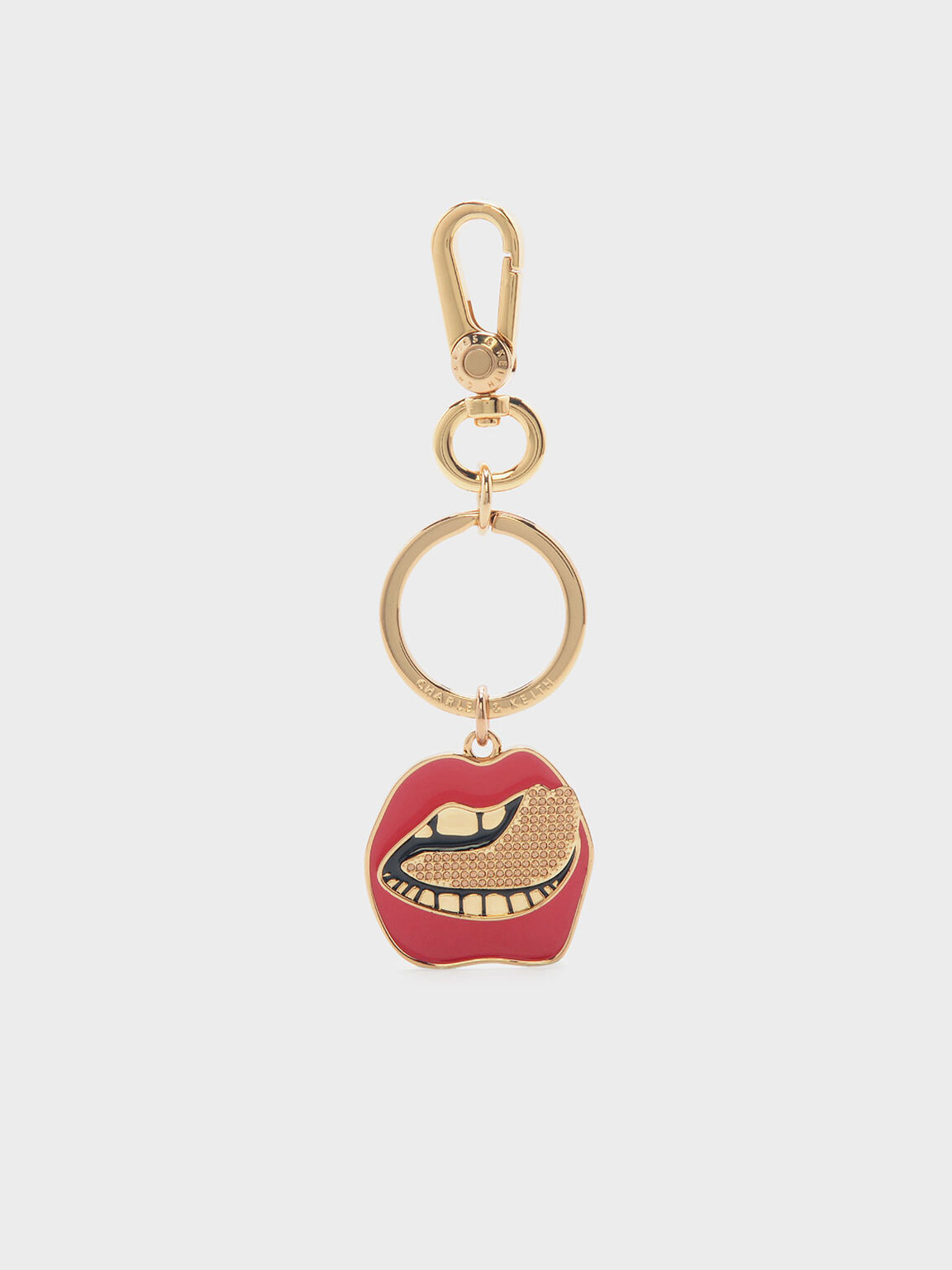 Charm Keychain, Red, hi-res