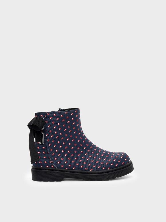 兒童緞帶短靴, 混色, hi-res