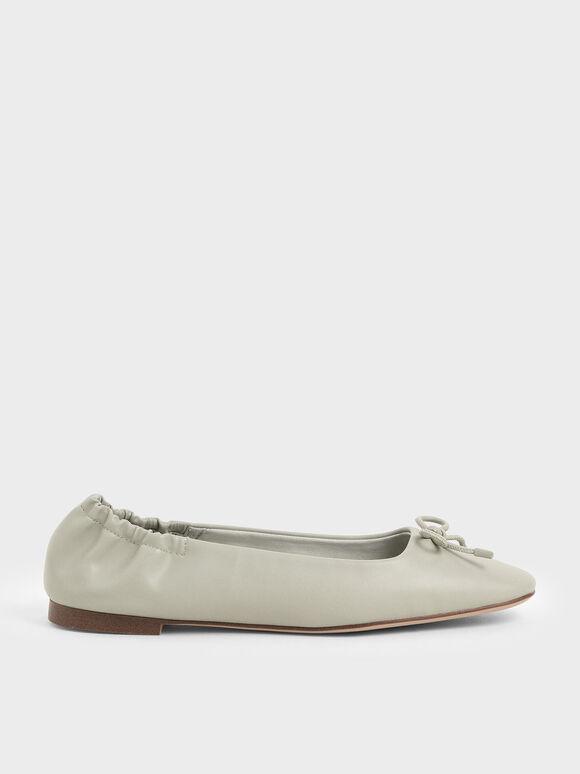 芭蕾舞平底鞋, 石灰白, hi-res