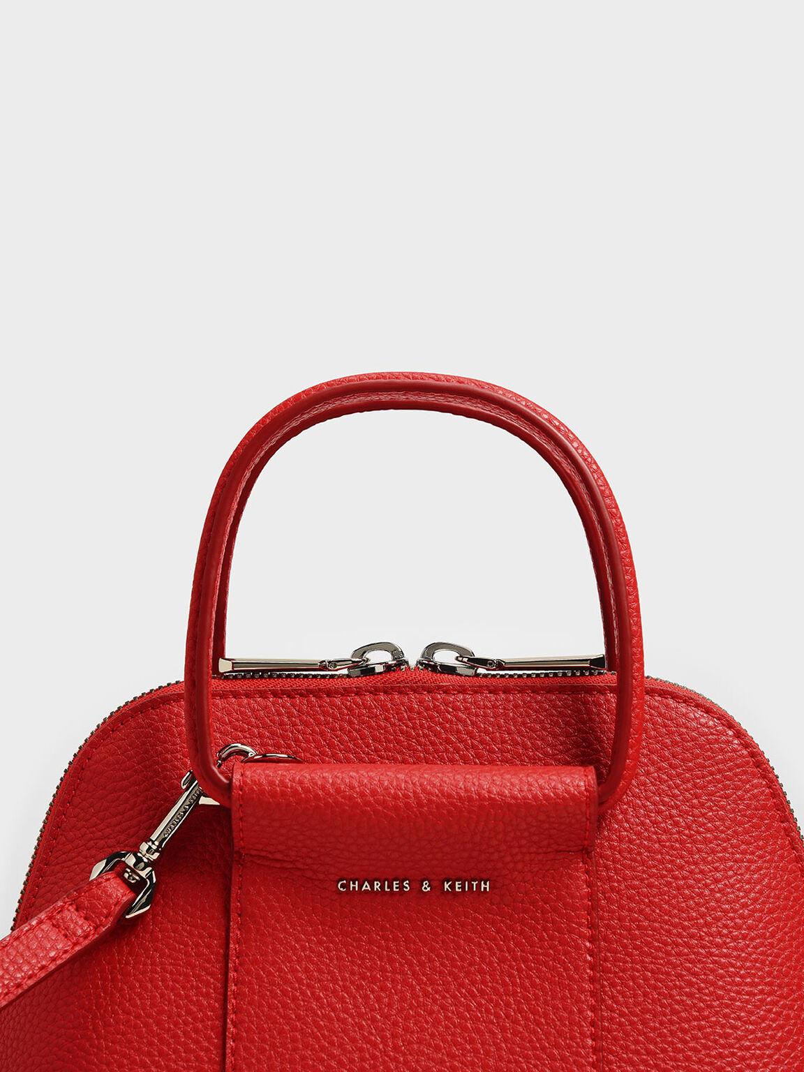迷你圓環手提包, 紅色, hi-res