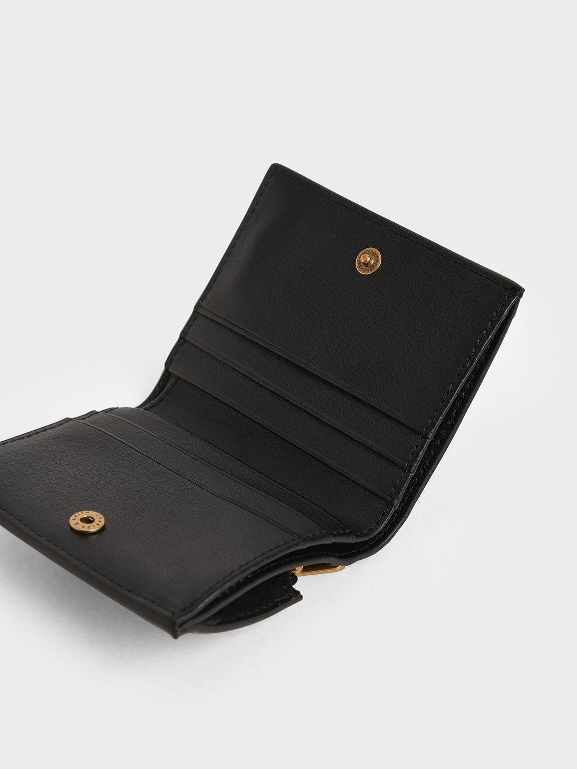 지퍼 어라운드 숏 월렛, 블랙, hi-res