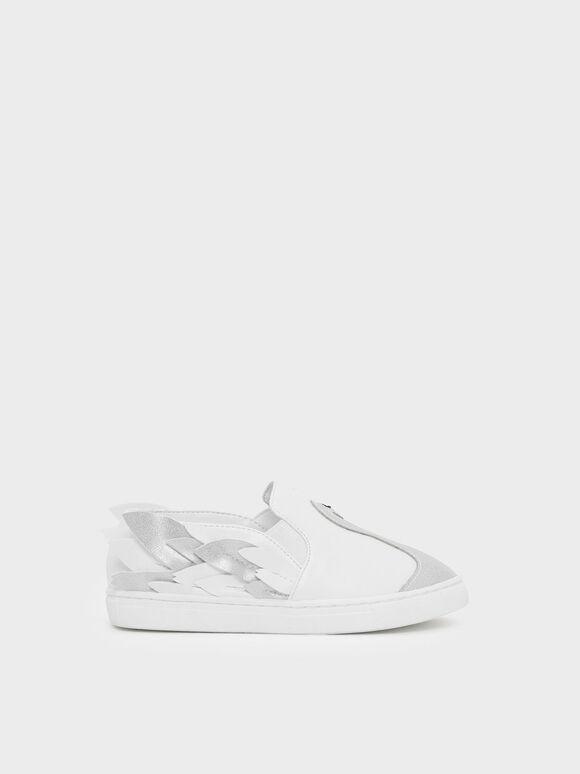兒童白天鵝平底鞋, 白色, hi-res