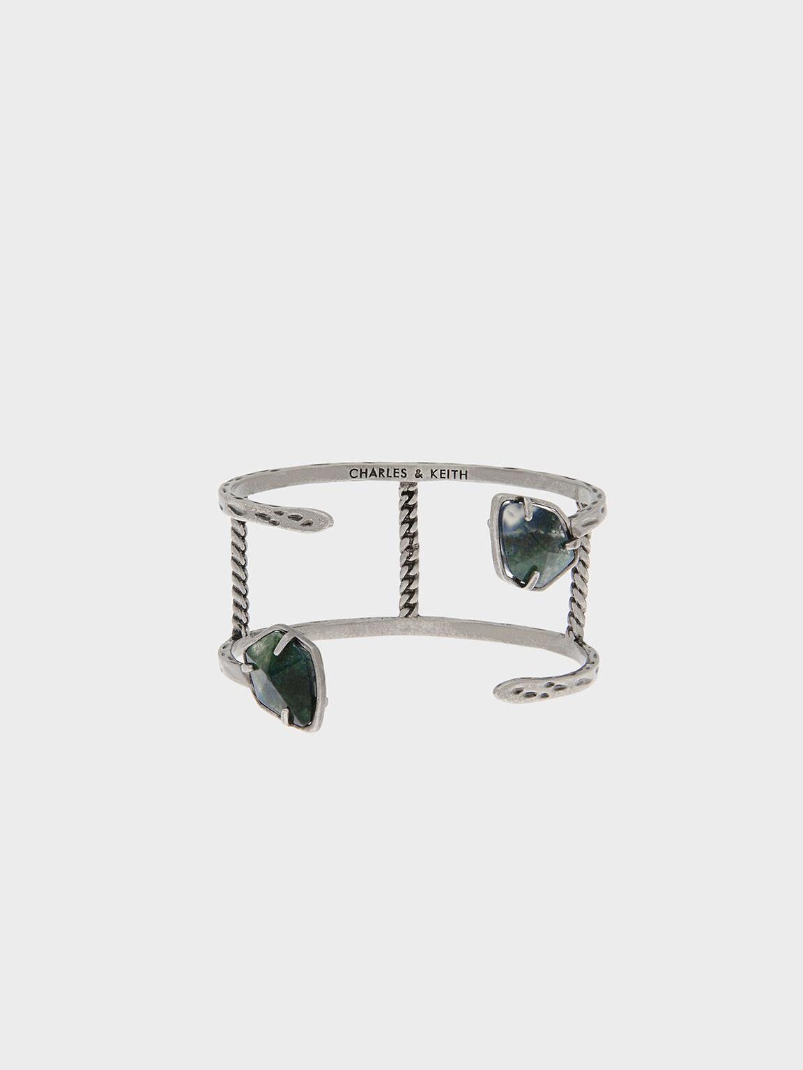 寶石鑲嵌手環, 灰色, hi-res