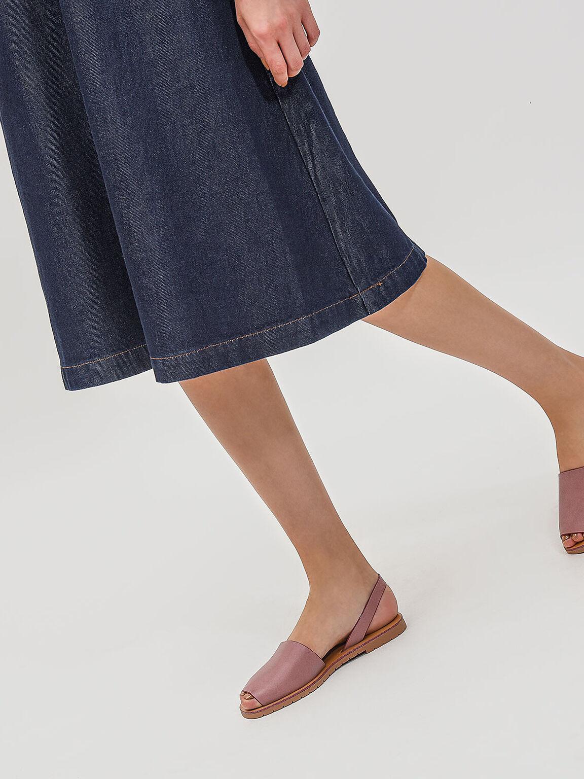 Peep Toe Sling Back Sandals, Pink, hi-res