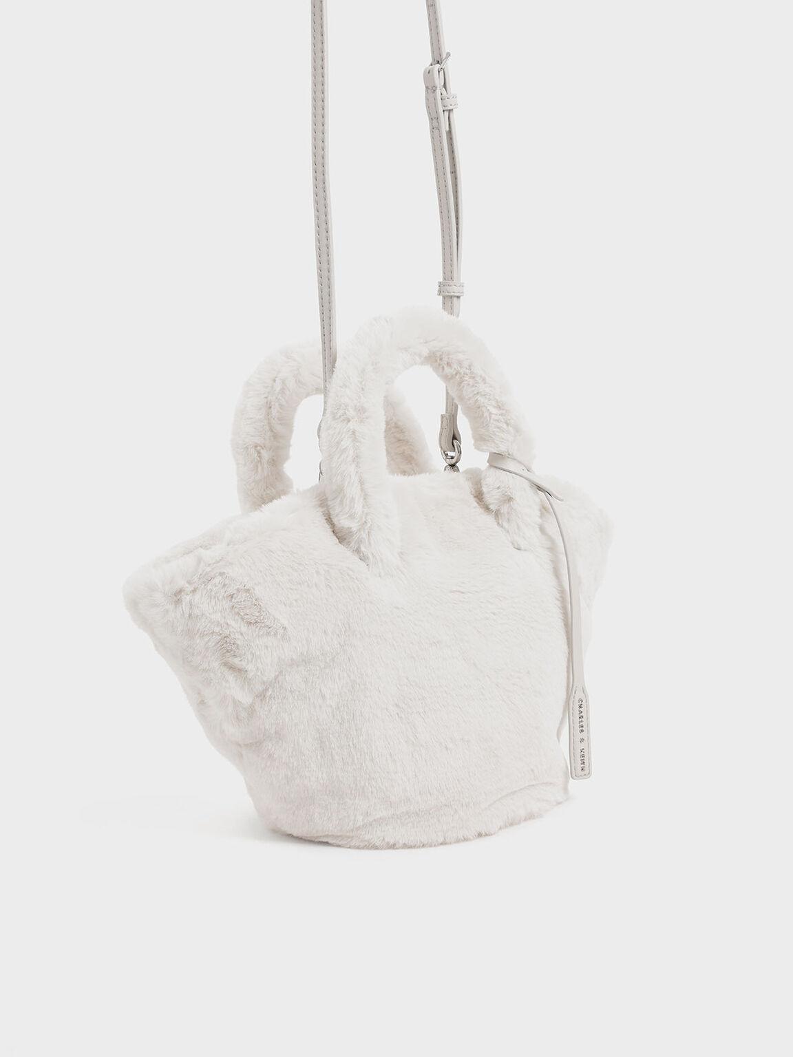 Textured Trapeze Bag, Cream, hi-res