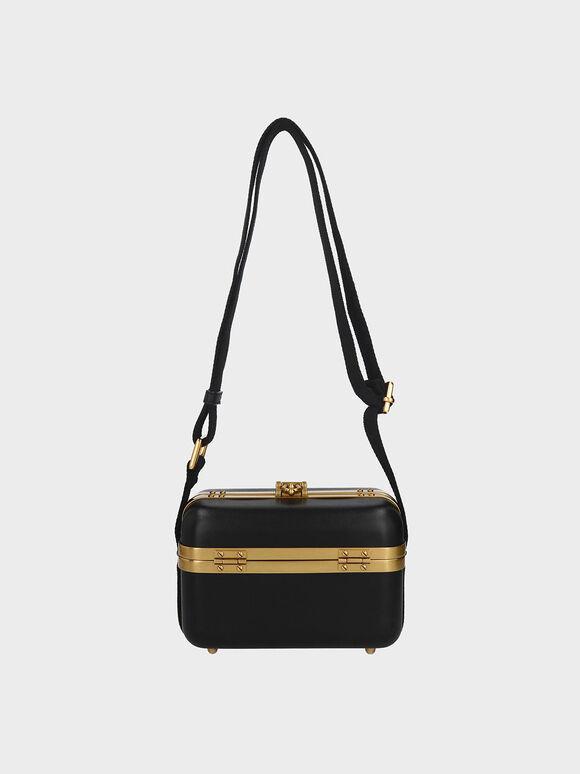 Buckle Boxy Bag, Black, hi-res