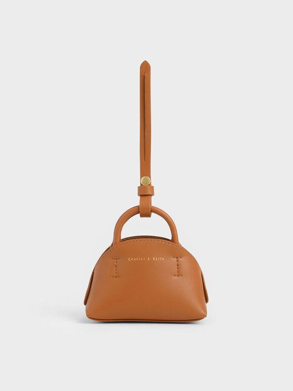 Mini Dome Pouch, Tan, hi-res