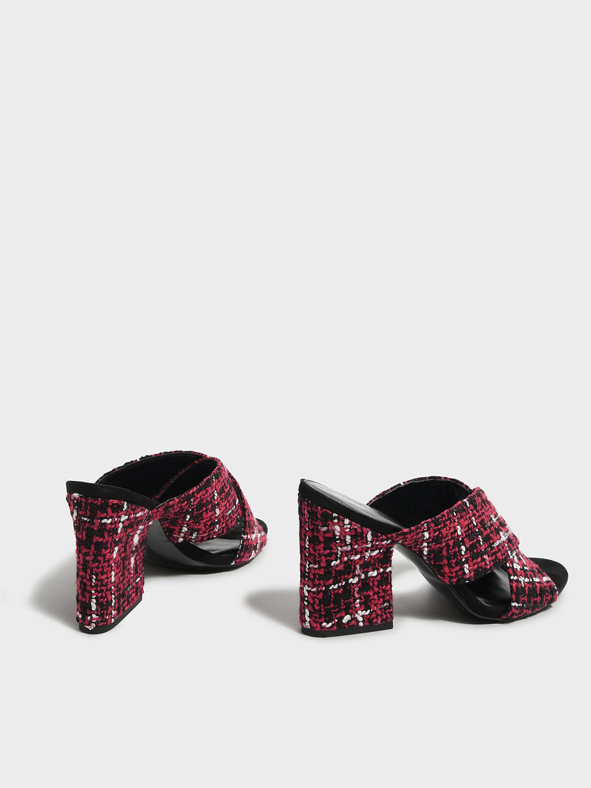 Criss Cross Mules, Red, hi-res