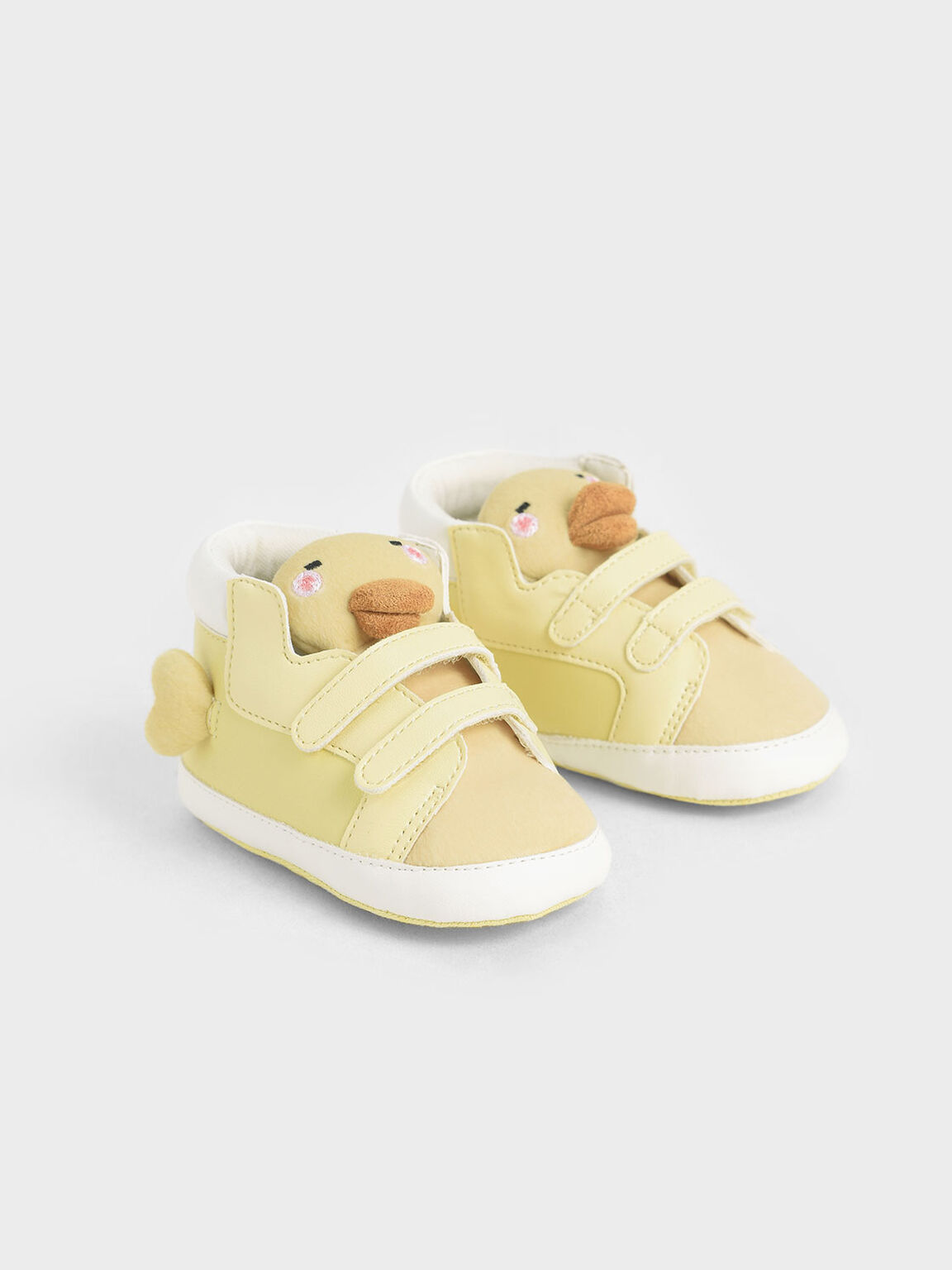 Baby Girls' David The Duck High Top Sneakers, Yellow, hi-res
