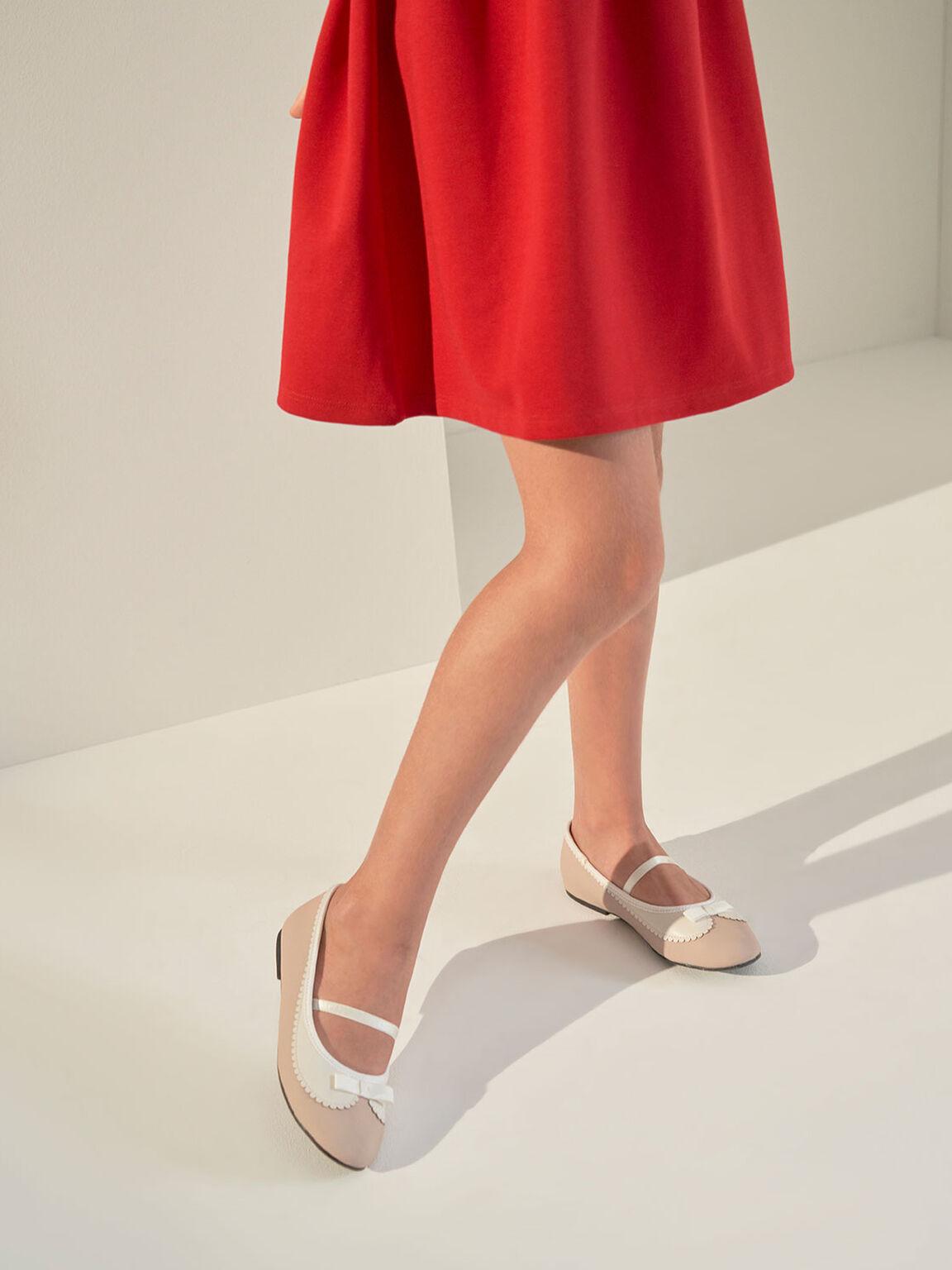 兒童蝴蝶結瑪莉珍鞋, 粉紅色, hi-res