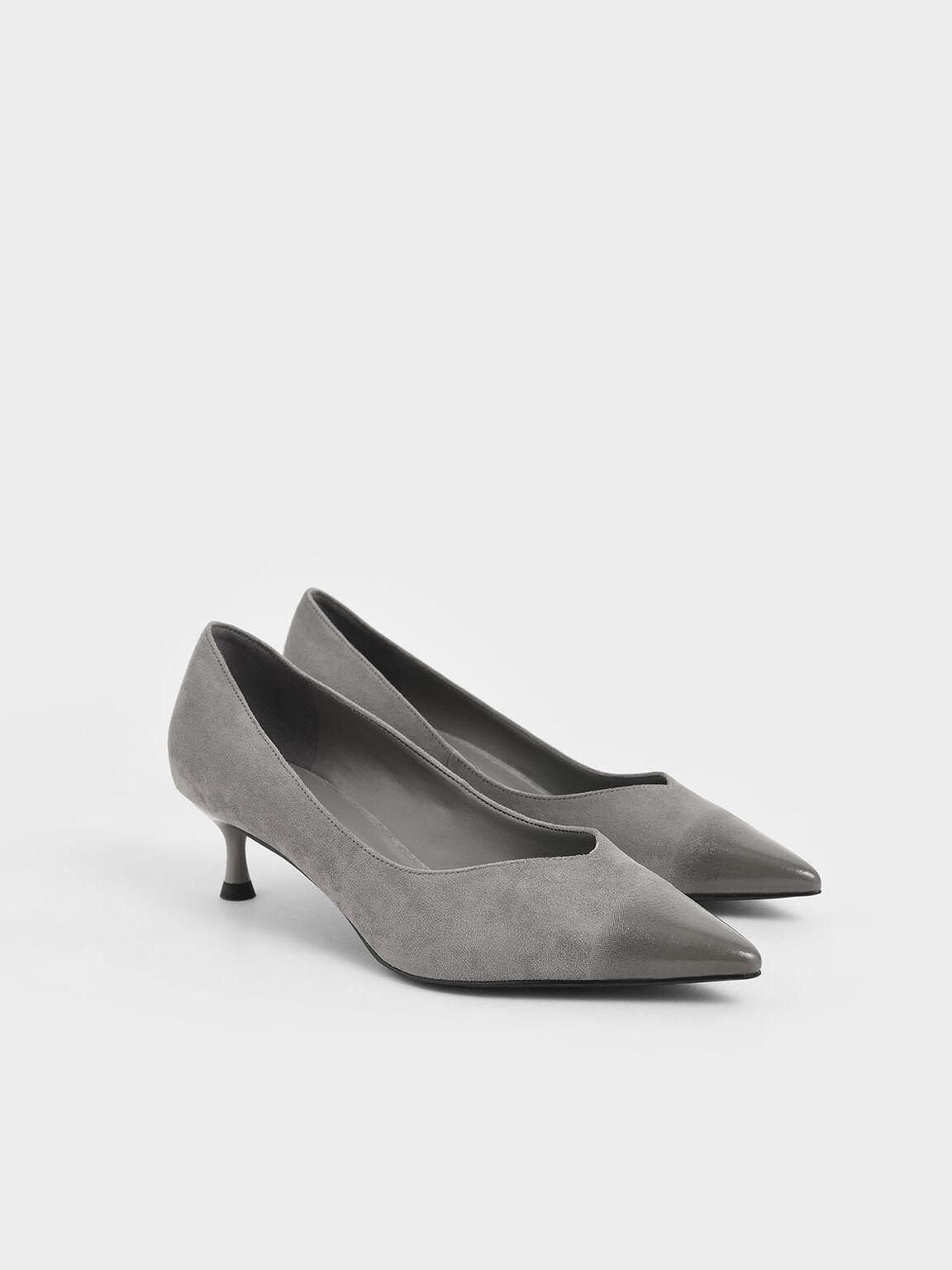 漸層低跟鞋, 灰色, hi-res