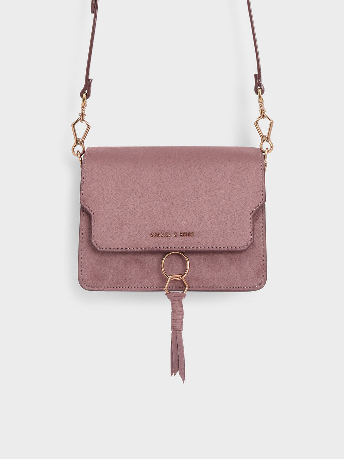 Tassel Detail Crossbody Bag, Mauve, hi-res