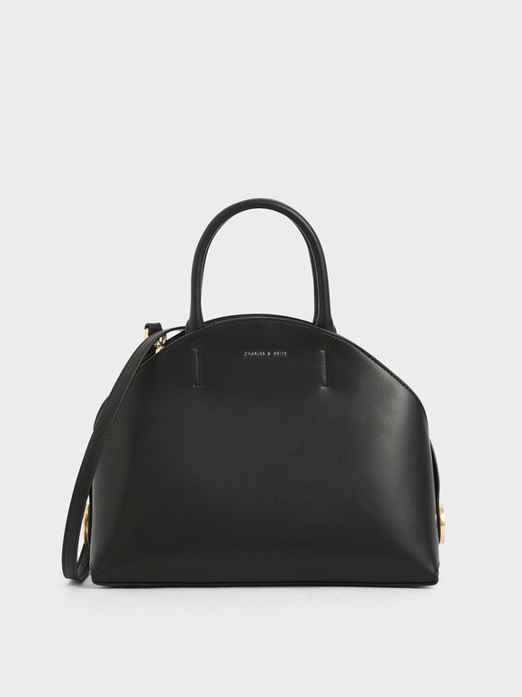 Large Dome Bag, Black, hi-res