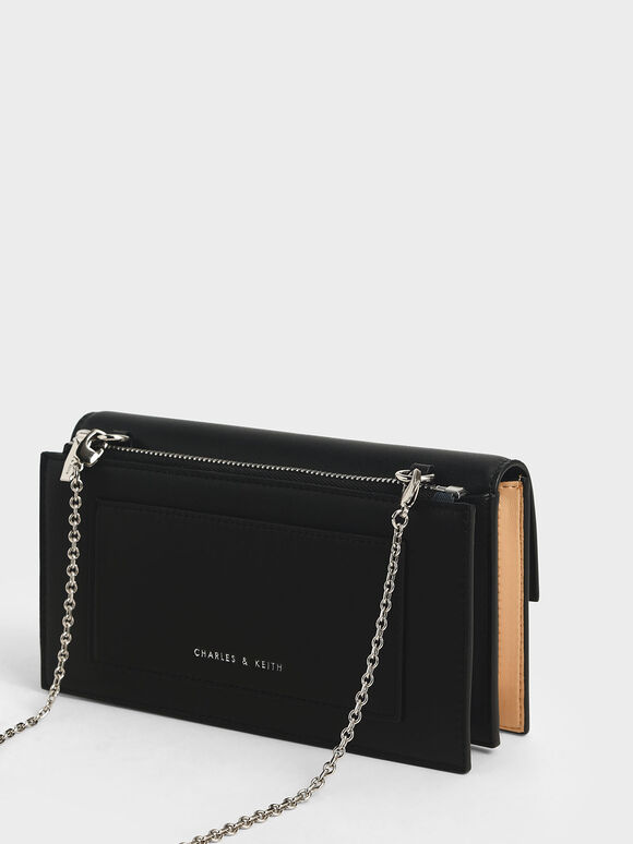 Two-Tone Ring Detail Long Wallet, Nude, hi-res