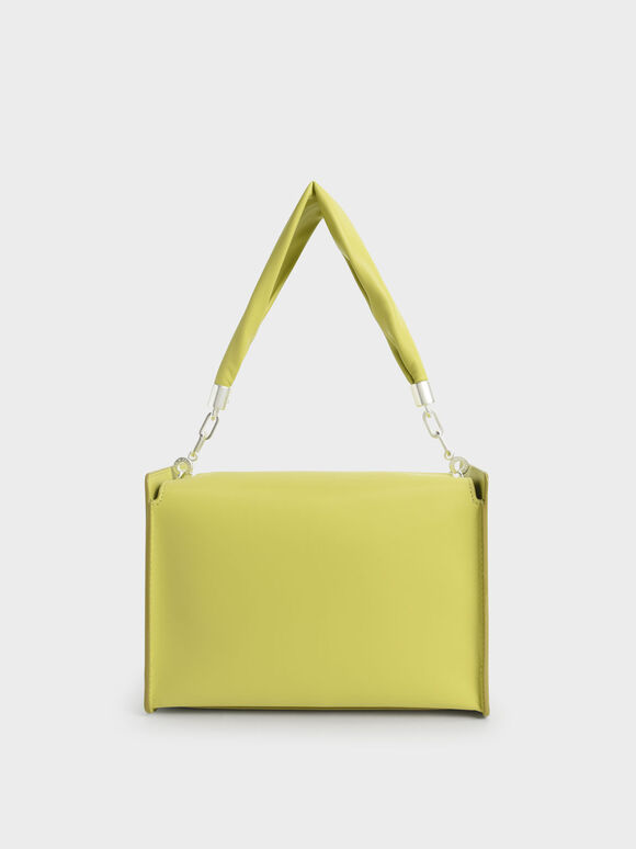 Slouchy Top Handle Bag, Lime, hi-res