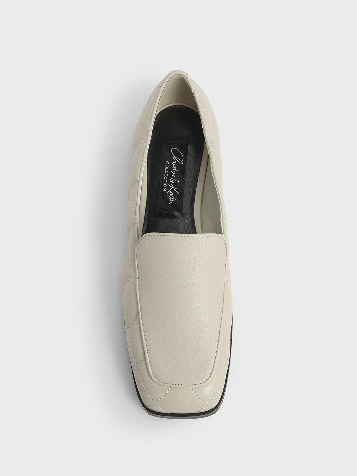 Quilted Leather Loafers, Chalk, hi-res