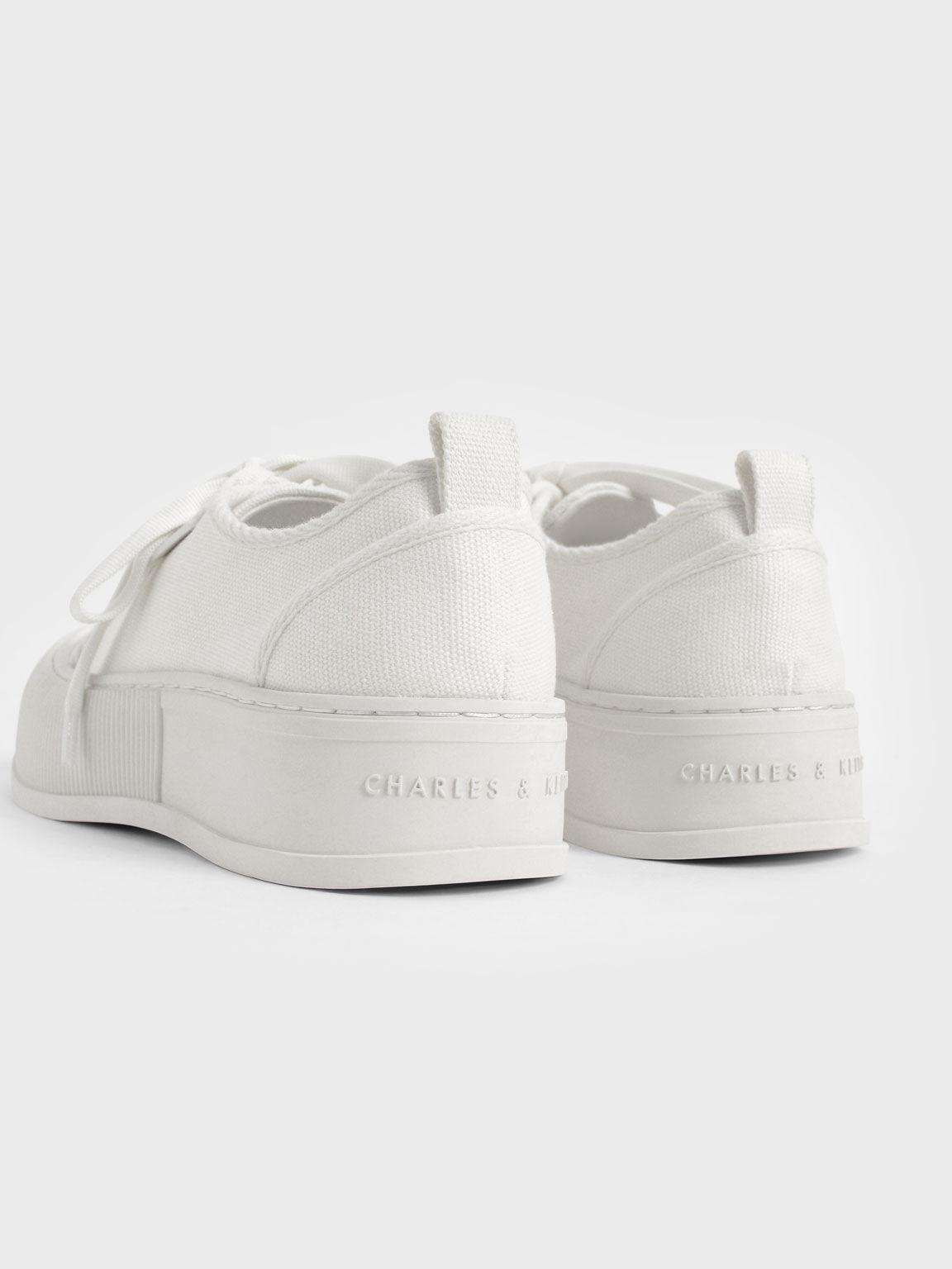 Organic Cotton Low-Top Sneakers, White, hi-res