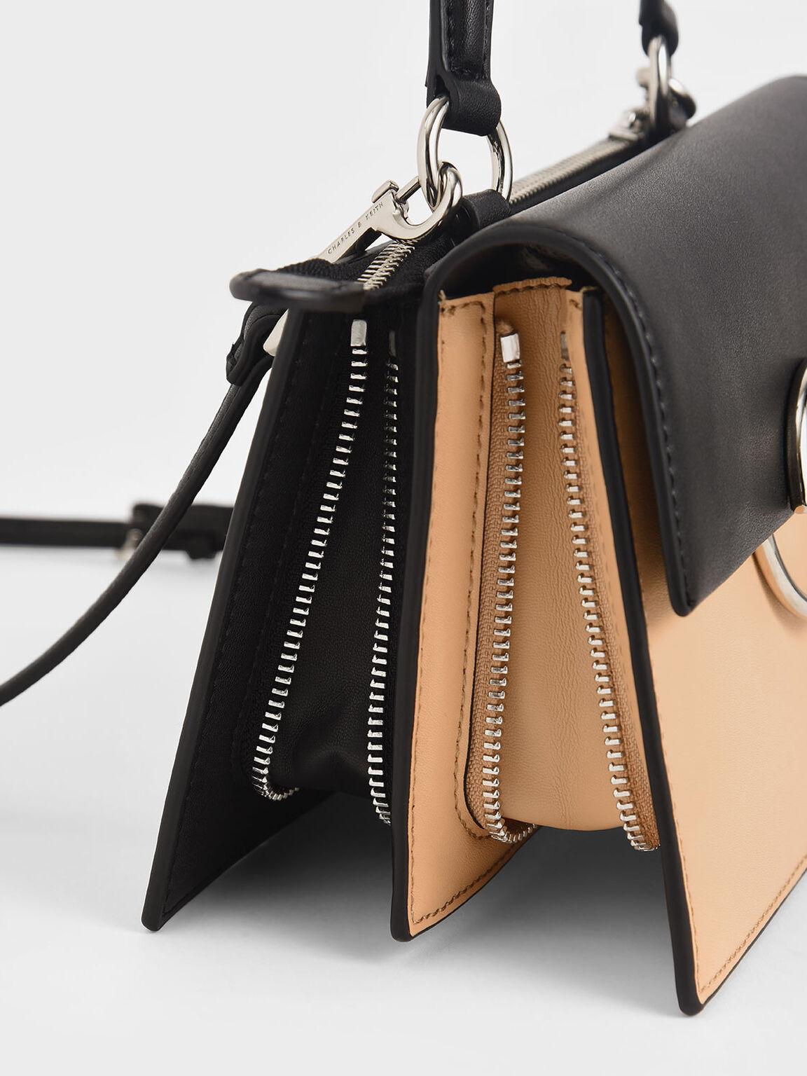 小型圓環手提包, 膚色, hi-res