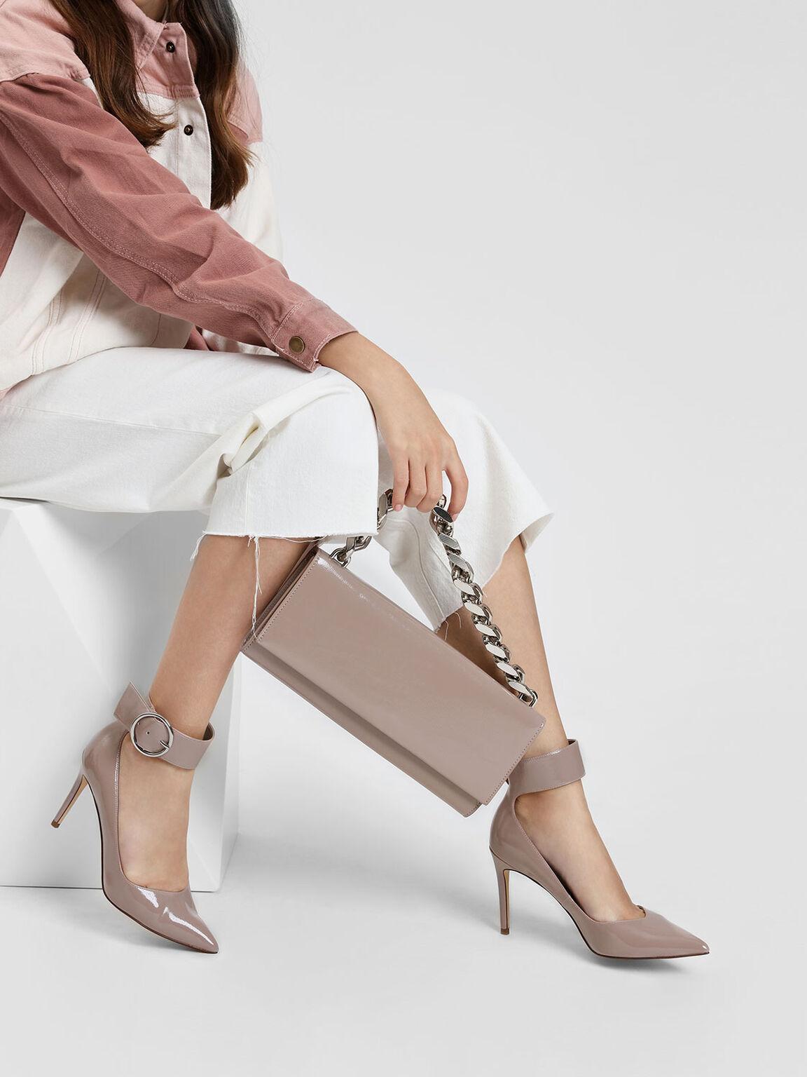 寬版踝帶高跟鞋, 膚色, hi-res
